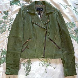 BCBG Max Azria Pebbled Leather Jacket